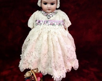 SOLD | Handmade Doll Dress for Petite Antique Doll