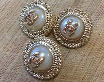 Small Chanel Buttons Set of 3