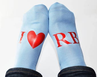 Personalised, I Love, Mens Anniversary Gift Socks