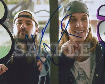 Jay and Silent Bob signed 8x10 Autograph RP - Kevin Smith / Jason Mewes - Great Gift Idea! - Ready to Frame photo picture