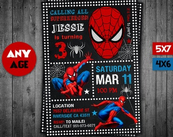 Spiderman Etsy - Spiderman birthday invitation maker free