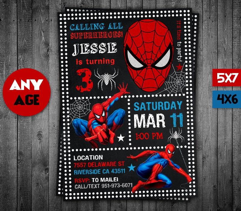 spiderman invitation spiderman spiderman party spiderman, Party invitations