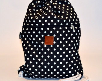 Dots Backpack Black