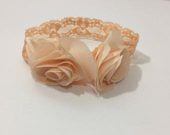 Cute Peach Baby Headband