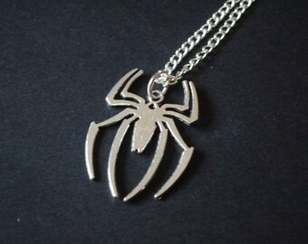 Spiderman symbol necklace