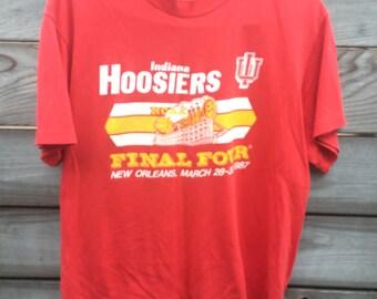 Indiana Hoosiers 1987 Final Four T-shirt