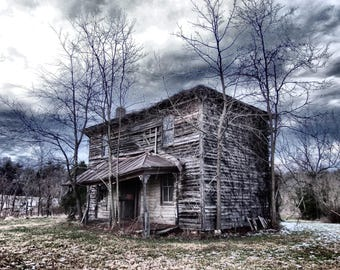 Abandoned House Photograph, Haunted House Photograph, Weathered House Photography, Rustic Country Farmhouse, Farmhouse Photography, Wall Art