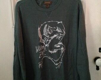 XLarge Long Sleeve : Turquoise Grey w/ White Ink