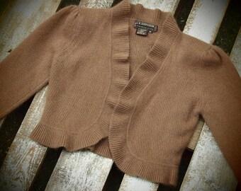 Vintage knitted Bolero Lambswool / Angora made in Hong Kong