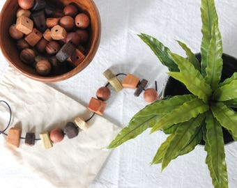 Hand-carved Wooden Beads