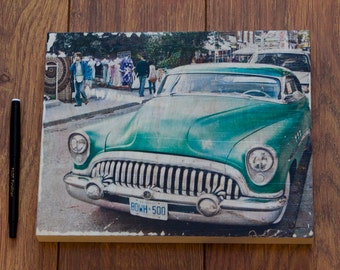 Buick on Birch Wood Canvas
