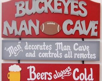 Buckeyes Ohio State Buckeye fans Ohio State Buckeyes Football Man Cave Sports Sign Bar Sign Football Fans Ohio State Football decor