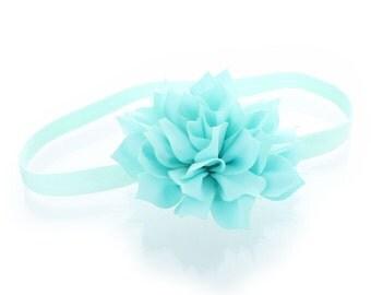 Baby Petal Flower Headband - Light Blue