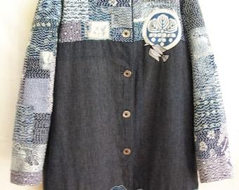 Boro Jacket with Sashiko stitching