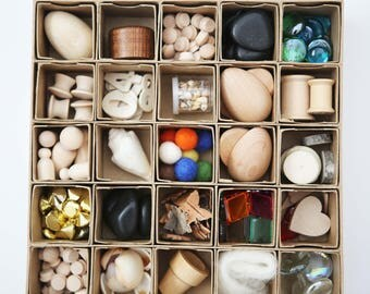 Reggio Inspired Loose Parts Box Counting Patterns Sorting
