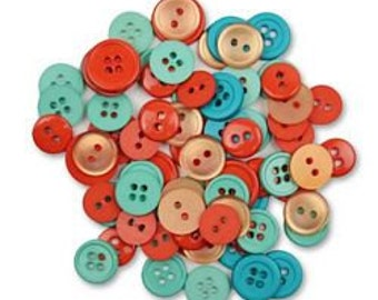 Buttons, Assorted Craft Buttons, Clothing Buttons, Sewing/Craft/Diy Buttons, Quilting Buttons, Red/Green Round Buttons, Shank Buttons