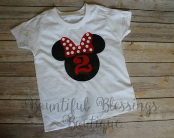 Minnie Mouse Birthday Tshirt