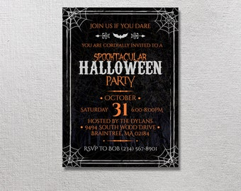 Halloween Invitation, Halloween Birthday, Scare Party, Scare Invite, Scary Movie Card Printables, Printable Scare Invites, Halloween Theme