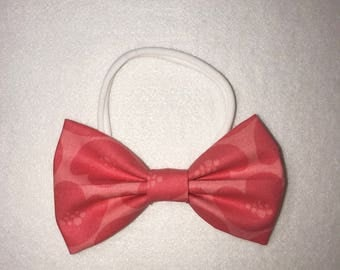 Coral Fabric bow