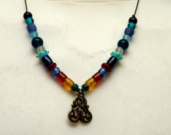 Chain, Midgard serpent, amulet, glass beads, Viking, replica, reenact, middle ages, LARP