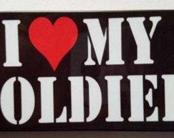 I Love My Soldier Cell Phone Case