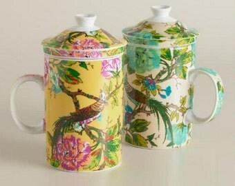 English Garden Infuser Mugs, Set of 2
