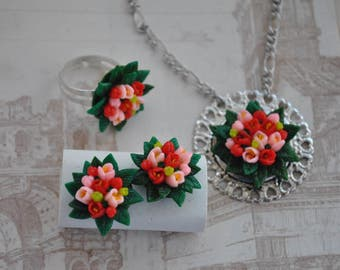 "A set of jewelry ""Tulip"""