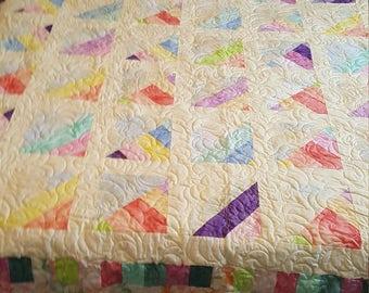 Pastel queen size quilt