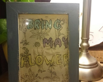 Wall art, art print - Bring may flowers