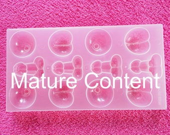 Little Penis Boobs Ass Ice Tray Dick Candy Mold Adult Party Supplies Bachelorette Bridal Shower Ideas Lingerie Soap Chocolate Lollipop