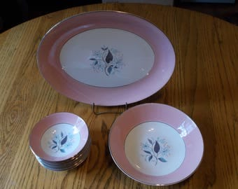 Homer Laughlin Rhythm pattern china set