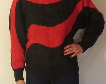 Vintage 1980's wool angora blend sweater