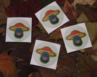 Shroomster Sticker Mushroom Graffiti Character Stickers - Shroompert