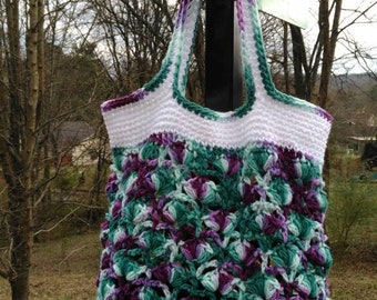 Puffy Shells Crochet Bag