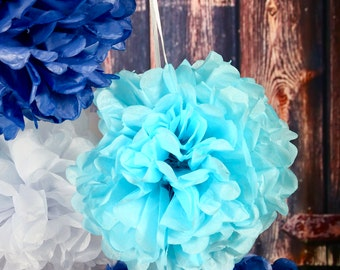 20 pcs Tissue Pom Pom Flowers set, Wedding Party Decoration, Baby Shower Decoration