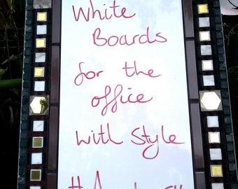 Free shipping worldwide Mosaic message whiteboard office decor