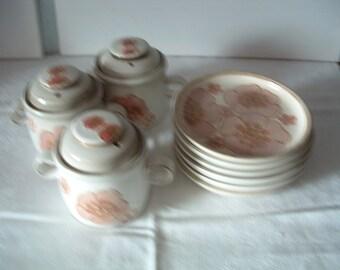 Vintage Denby Gypsy Soup Bowls Side Plates