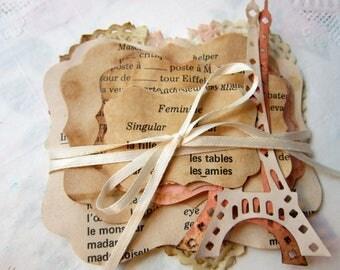 Paris Ephemera Paper Pack - Tea Dyed