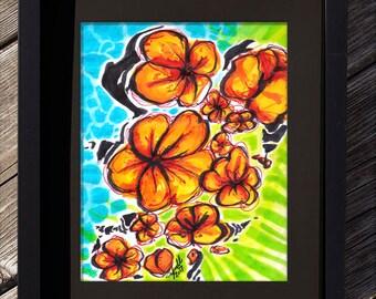 Orange Flowers - By Maggie Yoell
