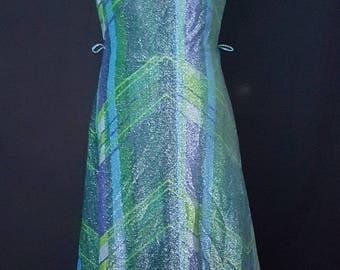 1960s Lurex evening dress