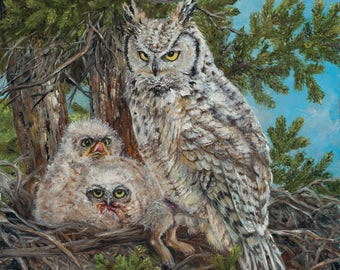 Sub-Artic Great Horned Owl
