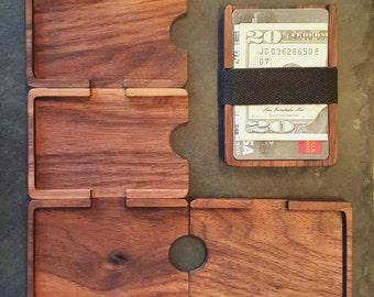 Minimalist walnut wallet
