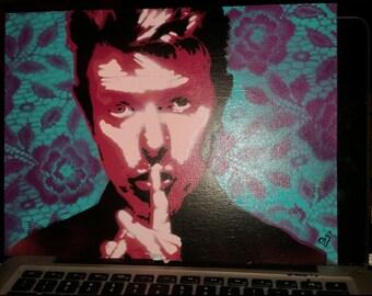 David bowie spraypaint  stencil Art