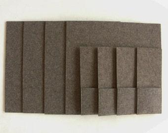 Square set set Fils sets of placemats + silverware pockets felt Brown grey beige melange table linen