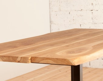 LIVE EDGE solid oak dinning table