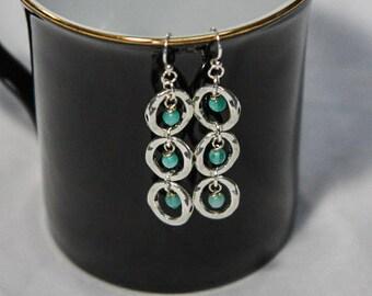 3 Aventurine Rings Earrings