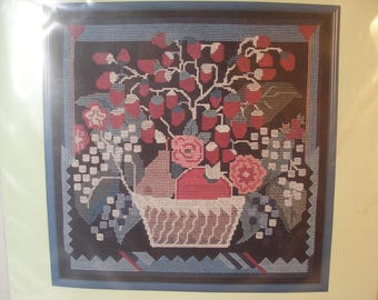 Claire Murray Strawberry Basket Counted Cross Stitch Kit