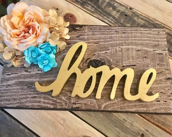"Floral ""home"" Wall Sign"