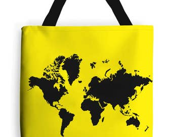 Travel Tote Bag - World Map