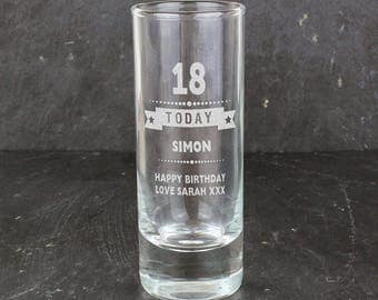40th shot glass Etsy